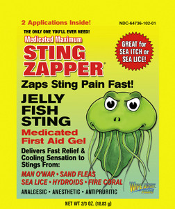 Sting Zapper - Jelly Fish Sting Medicated First Aid Gel 2 Pack