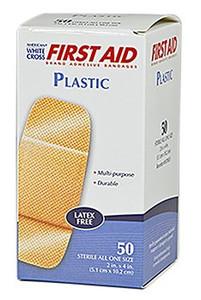 "Plastic Strip Adhesive Bandages 2"" x 4"""