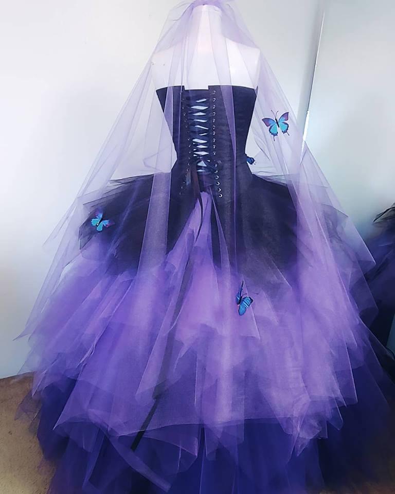 Butterfly Wedding Dress Blue Morpho