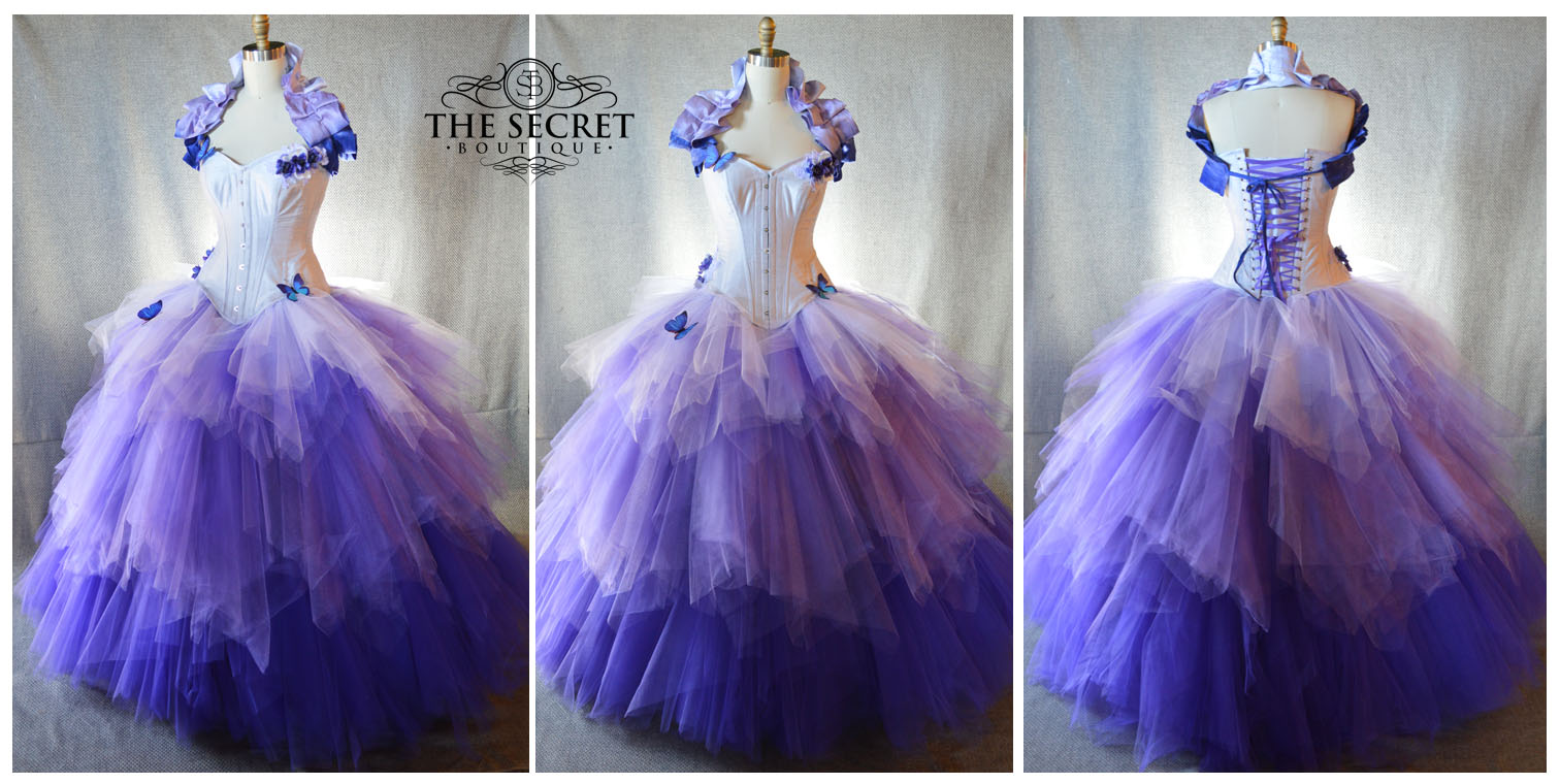 Unicorn color inspired purple ombre gown collection - The Secret ...