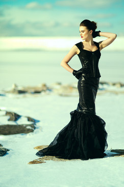 Dark Gothic Couture Evening Gown