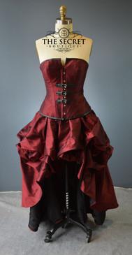 "Steampunk buckle dress-""Crimson"""