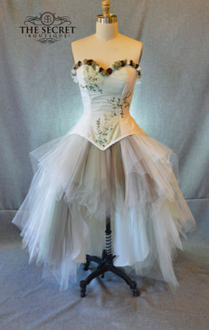 Woodland fairy corset wedding dress
