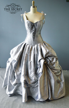 Moonlight bustle gown
