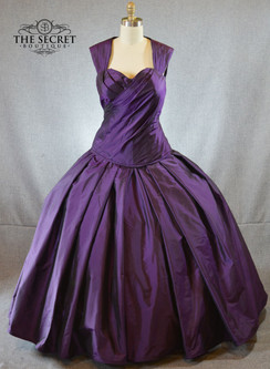 Purple Silk Wedding Gown