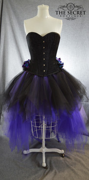 Gothic wedding dress, purple and black ombre corset dress
