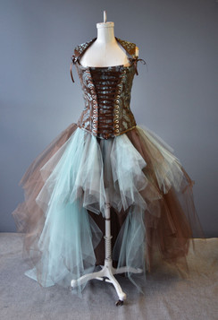 Custom made high low tulle corset dress