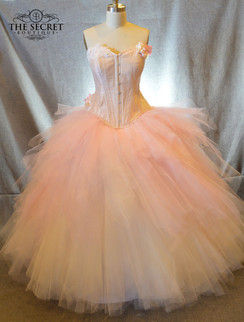 Pink tulle ombre wedding skirt