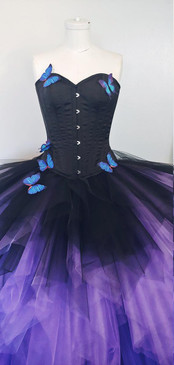 gothic butterfly corset