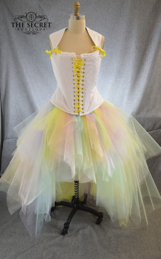 Pastel rainbow tulle fairy skirt
