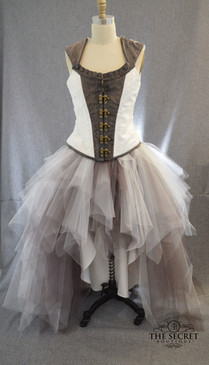 steampunk tulle skirt high low