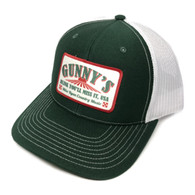 Gunny's Ball Cap - Dark Green/White