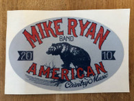Mike Ryan Oval Bear Sticker