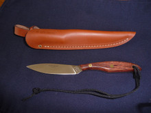 #R2SF Sugg Retail $85.25 Trout and Bird with Rosewood handle, high carbon stainless steel blade and regular open mouth sheath.