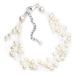 floating pearl bridal bracelet