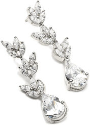 Evangeline cubic zirconia and diamante bridal earrings