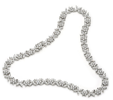 Elegant diamante bridal and special occasion necklace, AA quality CZ's