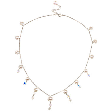 Lucinda pearl and crystal bridal necklace