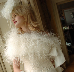 marabou and ostrich real feather stole