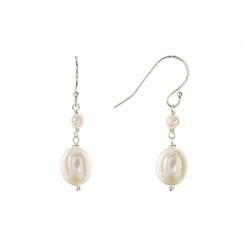 Pia freshwater pearl bridal earrings