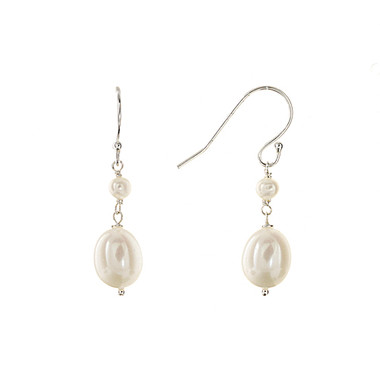 Pia freshwater pearl bridal earrings