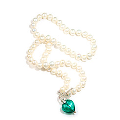 Valentino Azur freshwater pearl and Heart Pendant 21