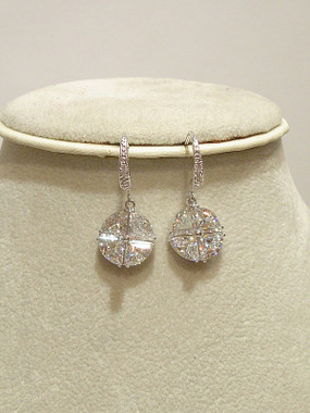 Loretta diamante and CZ drop earrings lovely for bridal jewellery