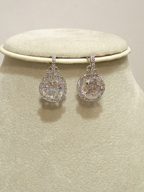 Diamante and CZ wedding earrings £39.95