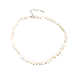 Ellie classic cream pearl bridal necklace lovely for bride or bridesmaids