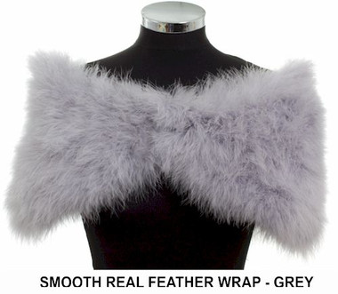 Alicia grey real feather ladies wrap