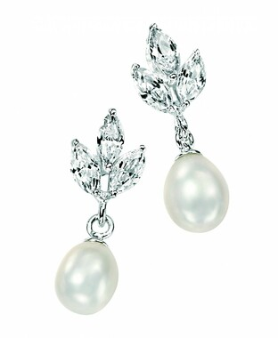Valeria pearl and diamante bridal earrings ideal bridesmaids gift