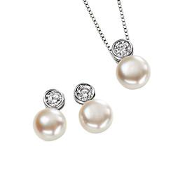 Adoria pearl bridal pendant set lovely as bridesmaids jewellery