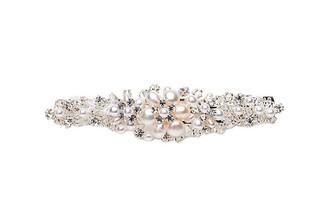 Vintage style pearl and crystal hair slide