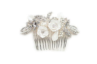 vintage inspired floral bridal hair comb