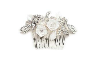 vintage inspired floral bridal hair comb