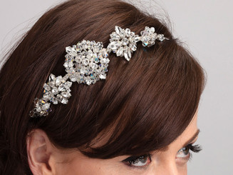 Vintage deco inspired crystal bridal hair band