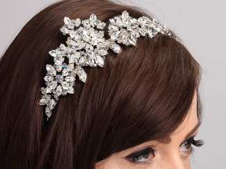Lily Grace side styled crystal bridal headband