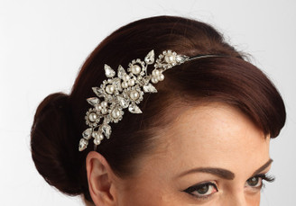 Gorgeous Sara side styled pearl bridal headband