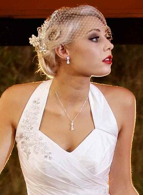 Rachael diamante bridal necklace set