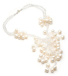 Isabelle freshwater pearl and crystal necklace