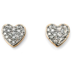 A little diamond and gold heart pair of earrings 117