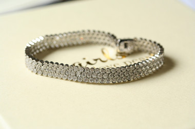 Coco diamante bridal bracelet available in larger and smaller sizes