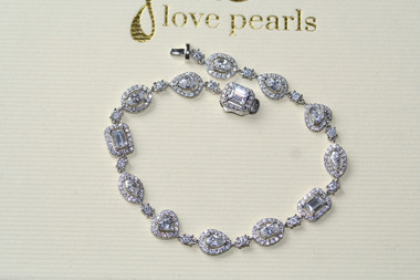 Felicity fine diamante bridal jewellery bracelet in smaller sizes