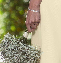 Dainty felicity diamante / cubic zirconia bracelet, lovely for petit sizes