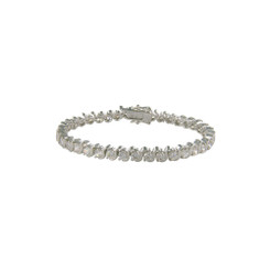 Elizabette diamante tennis bridal bracelet in smaller or larger sizes