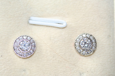 Clara vintage detailed diamante stud bridal earrings