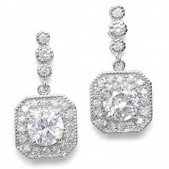 art deco styled diamante earrings £45.95