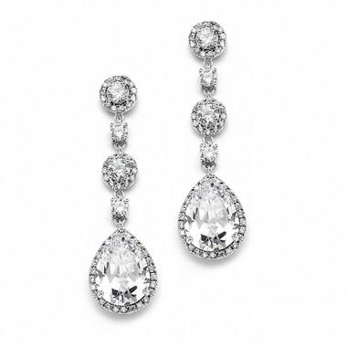 Angelica diamante drop bridal earrings £64.95