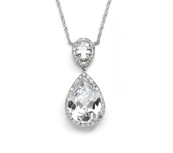 Arianna pear shaped diamante pendant