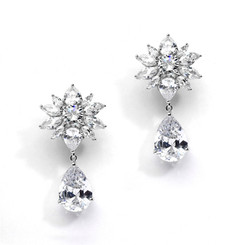 Gabriella marquis diamante bridal earrings